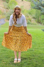 Load image into Gallery viewer, Mustard Prairie Skirt S-3X