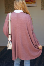 Load image into Gallery viewer, Plus Size Waffle Knit Cocoon Cardi