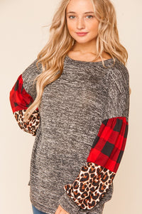 Mckenna bubble sleeve top- Sizes Small-3X