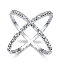 Load image into Gallery viewer, XOXO Micro Pave Sterling Silver Rings
