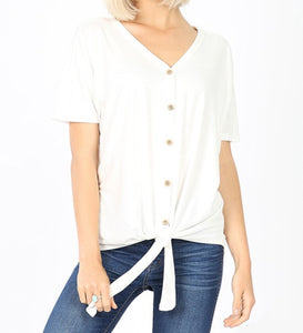 Button down tie top Plus