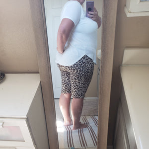 Leopard biker short leggings