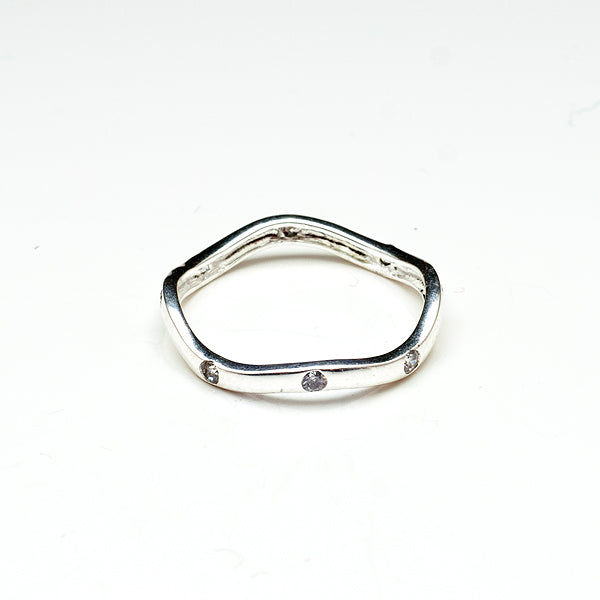Sparkly Waves Toe Ring