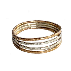 Four Strand Sterling and Gold Fill Toe Ring