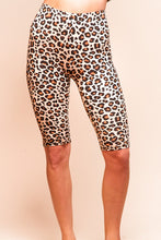 Load image into Gallery viewer, Leopard biker short leggings