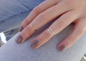 1 mm Skinny SS Round Toe Ring