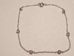 Cora Sterling Silver Anklet
