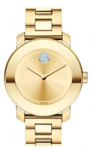 Movado Bold Gold/Crystals 36mm 3600104
