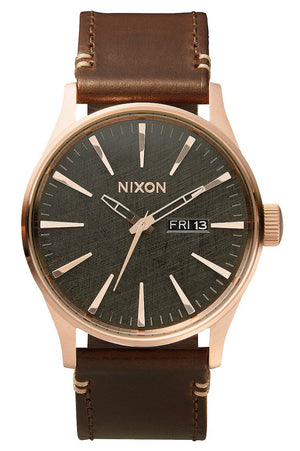 Nixon Sentry Leather Watch A1052001