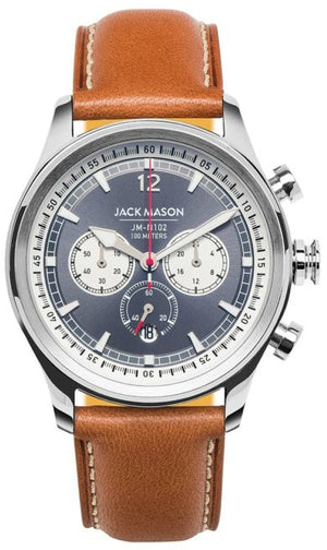 Jack Mason Nautical Chronograph Leather 42mm JM-N102-204
