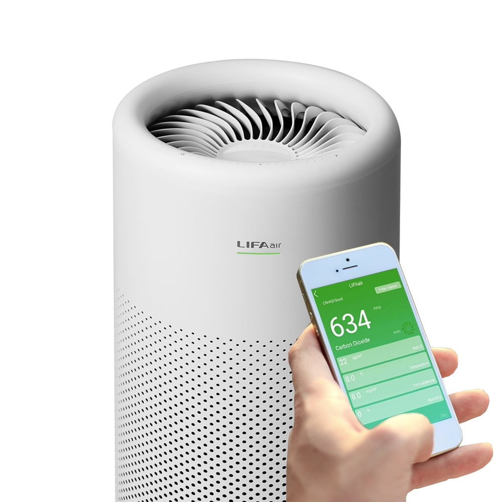 Smartphone compatible home air purifier