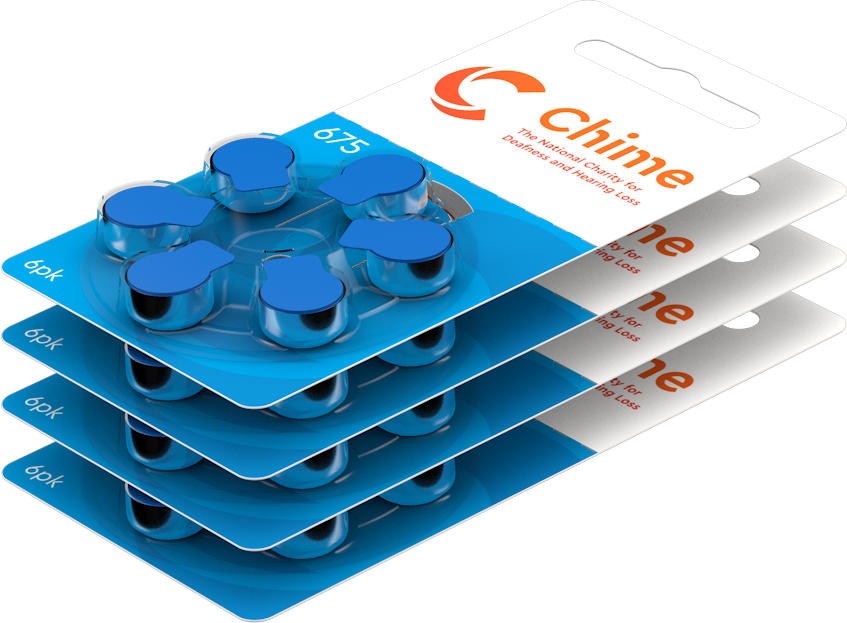 CHIME Hearing Aid Batteries 6 Pack - Size 675 - Free Postage on this Item