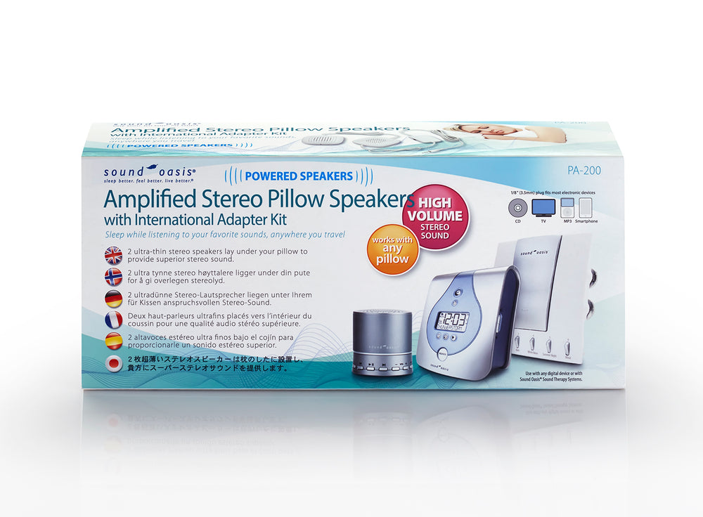 Sound Oasis PA-200 Amplified Stereo Pillow Speakers