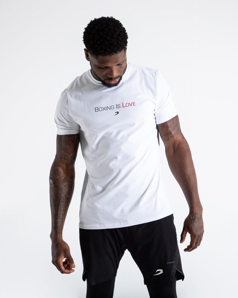 BOXRAW Boxing Is Love T-Shirt White
