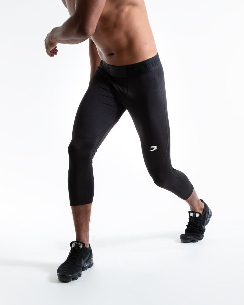 Saddler Compression 3/4 Leggings - Black