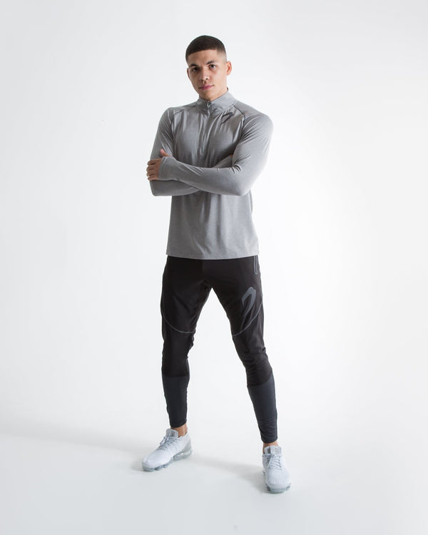 Perez 1/4 Zip Top - Grey