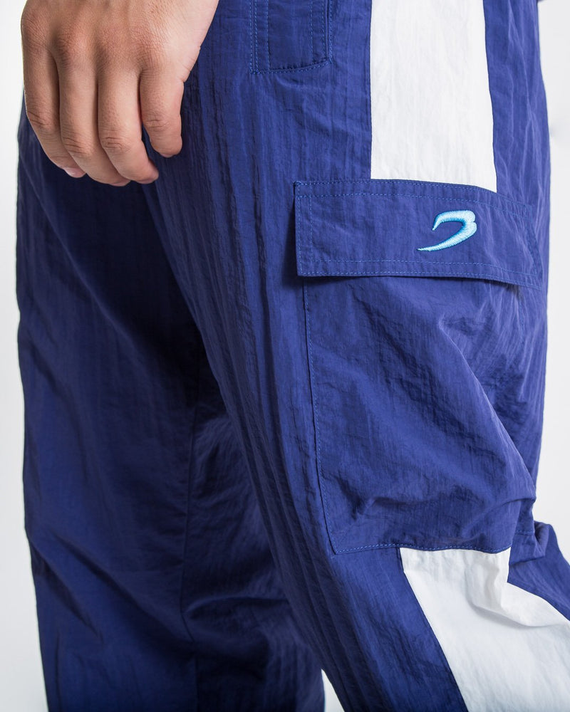 Walker Track Bottoms - White/Navy - BOXRAW