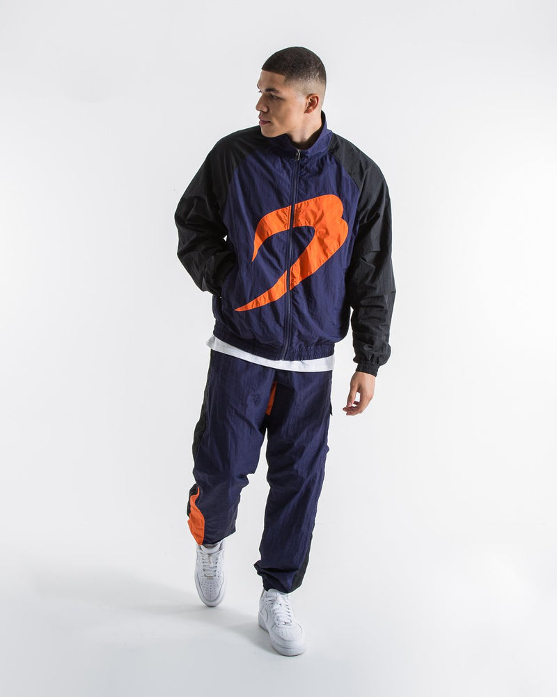 Walker Track Bottoms - Black/Navy/Orange - BOXRAW