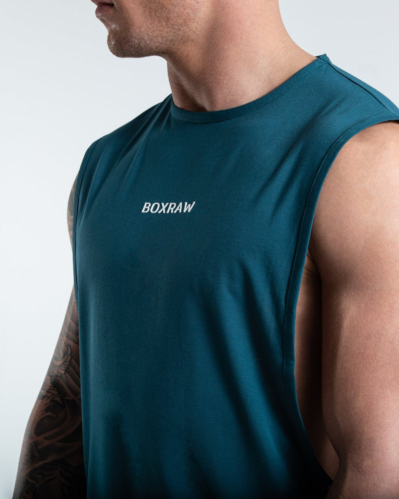 BOXRAW_SMRT-TEC Muscle Tank - Green