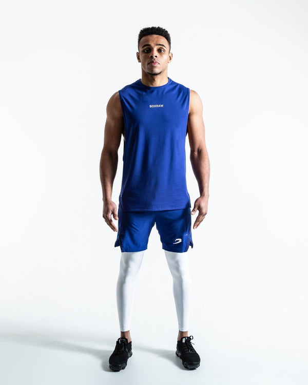 BOXRAW SMRT-TEC Muscle Tank Blue