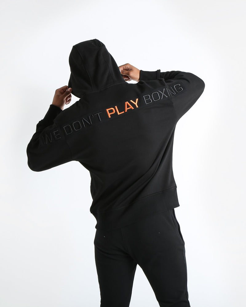 We Don't Play Boxing Unisex Hoodie - Black