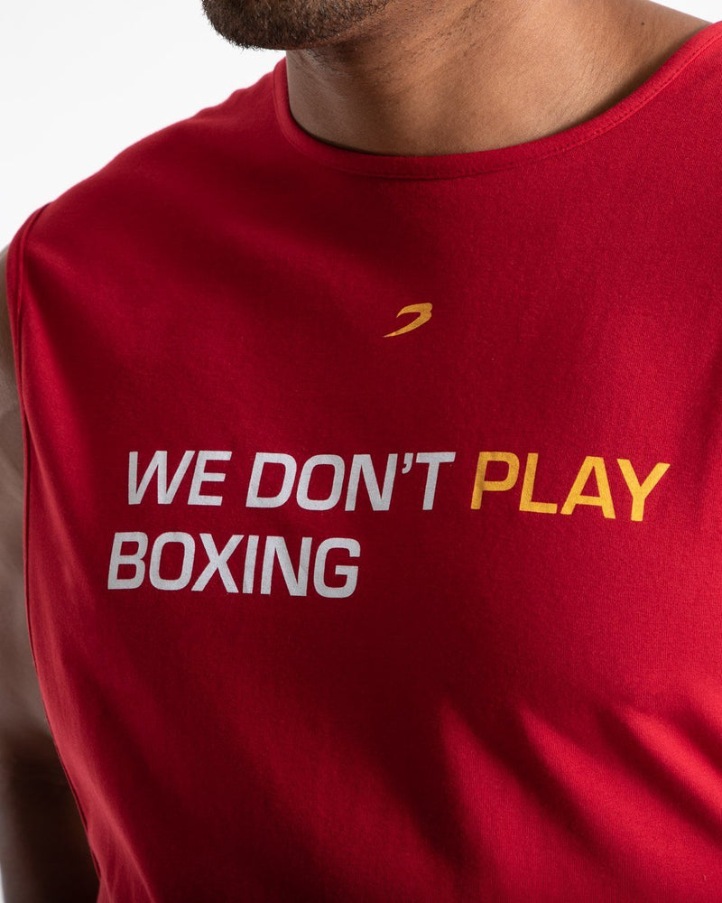 We Don't Play Boxing Muscle Tank - Red