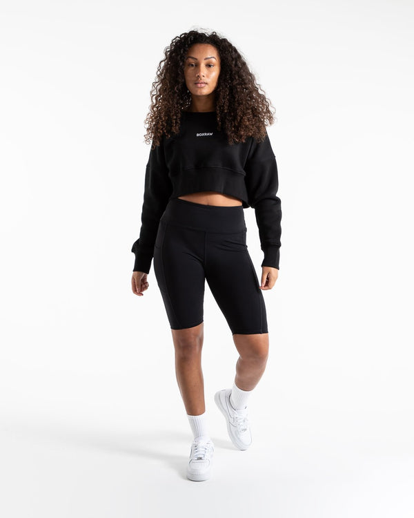 Johnson Cropped Sweatshirt - Black