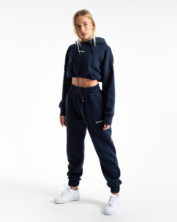 Johnson Cropped Hoodie - Navy