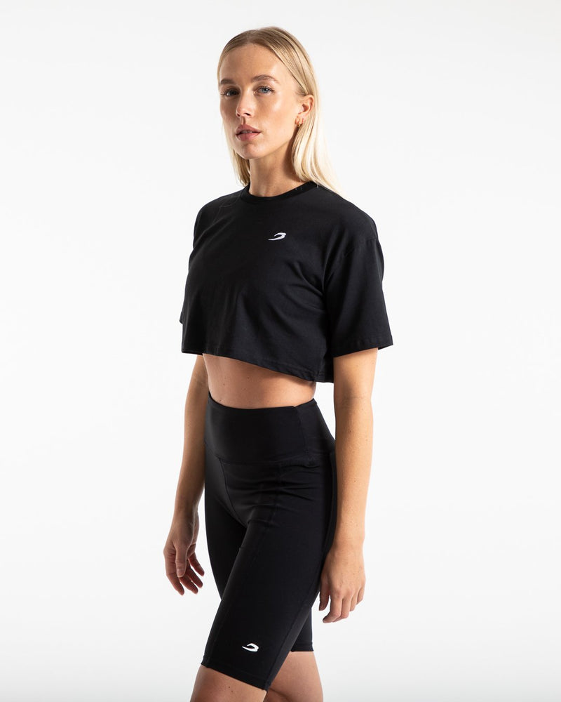 Cropped BOXRAW Strike T-Shirt - Black