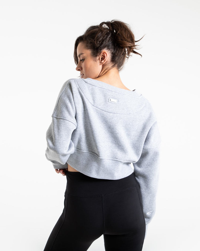 Johnson Cropped Sweatshirt - Grey