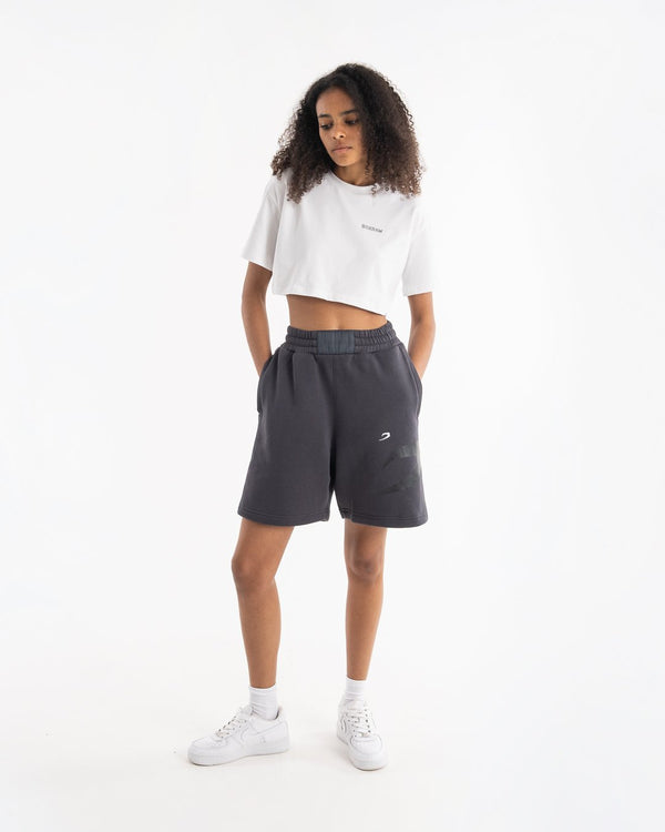 Women's Boyfriend Shorts - Charcoal - BOXRAW