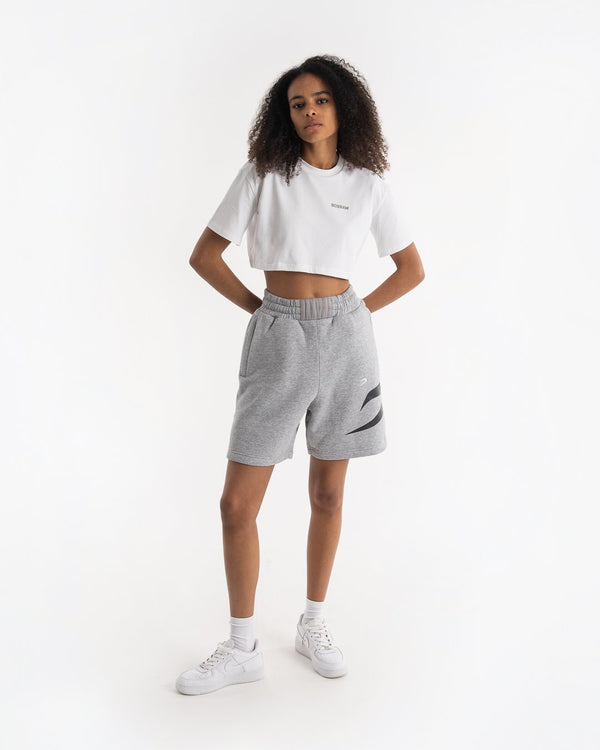 Women's Boyfriend Shorts - Grey - BOXRAW