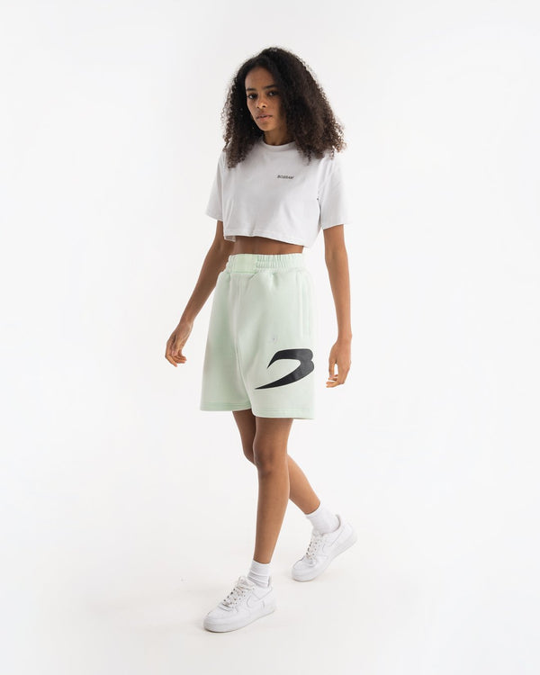 Women's Boyfriend Shorts - Mint - BOXRAW