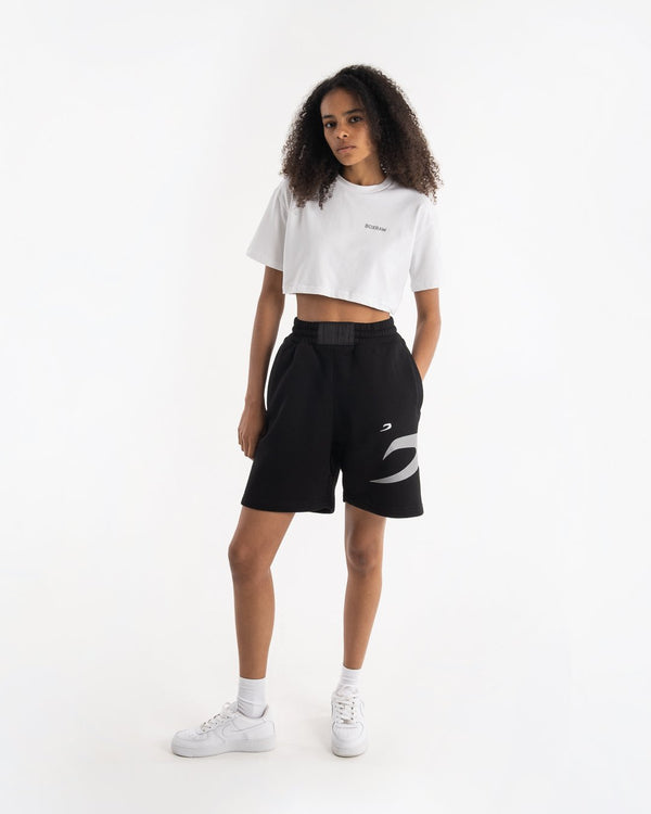 Women's Boyfriend Shorts - Black - BOXRAW