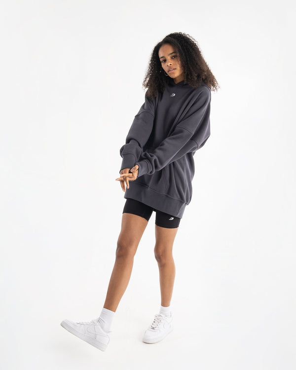 Women's Oversized Hoodie - Charcoal - BOXRAW