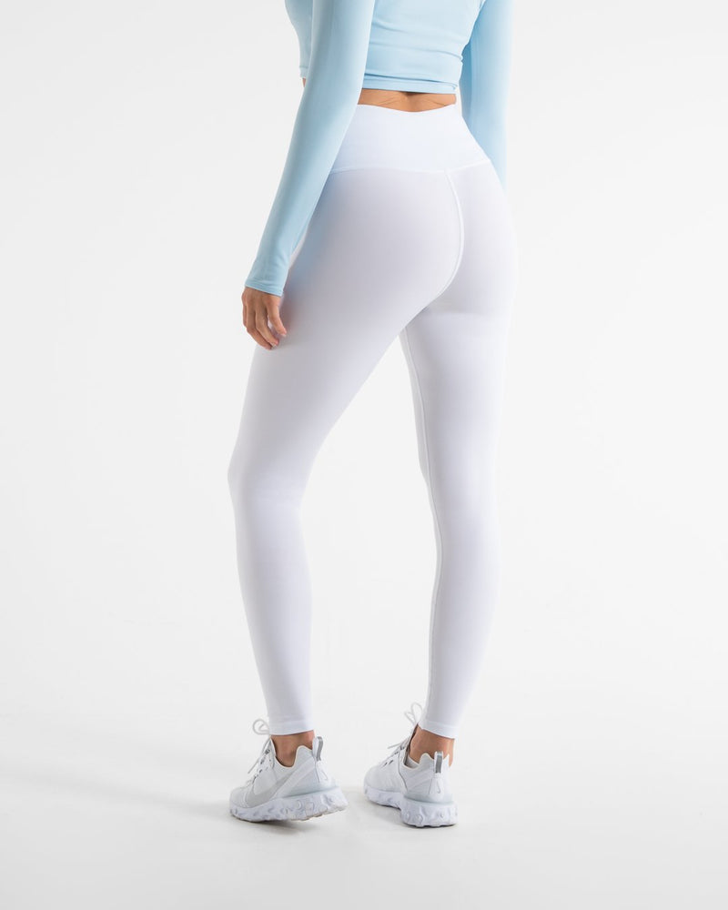 Women's High Waist Leggings - White - BOXRAW