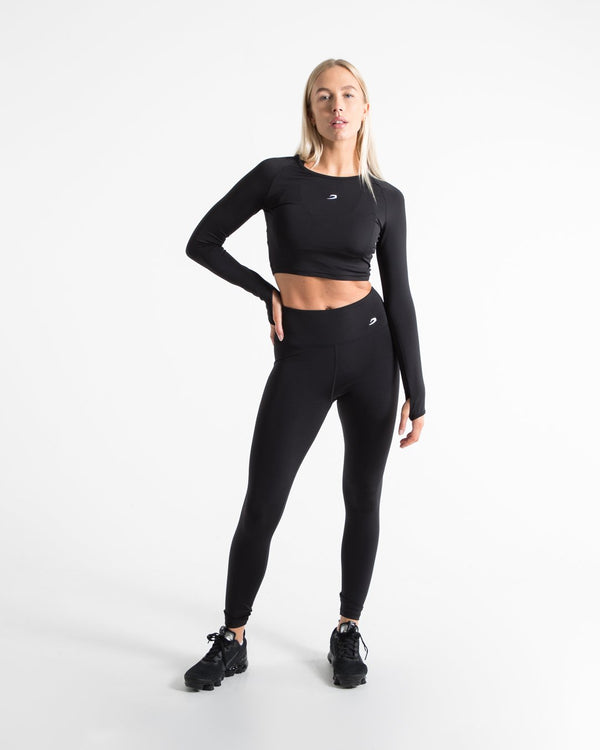 Women's High Waist Leggings - Black - BOXRAW