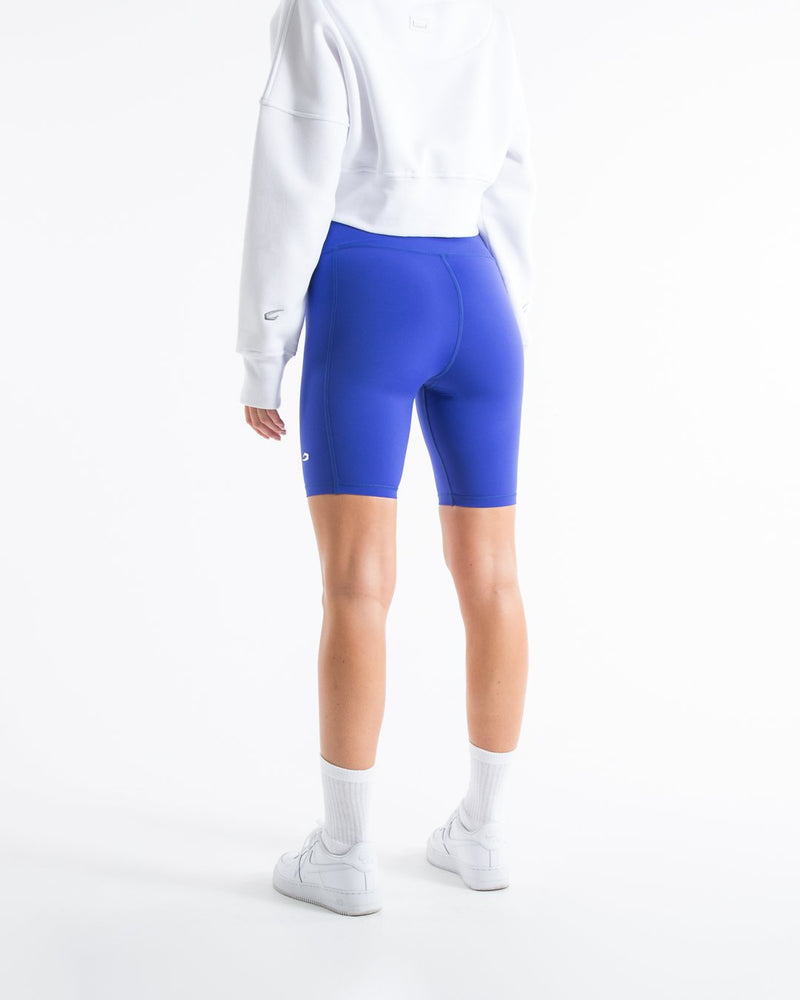 Women's Cycling Shorts With Pockets - Electric Blue - BOXRAW