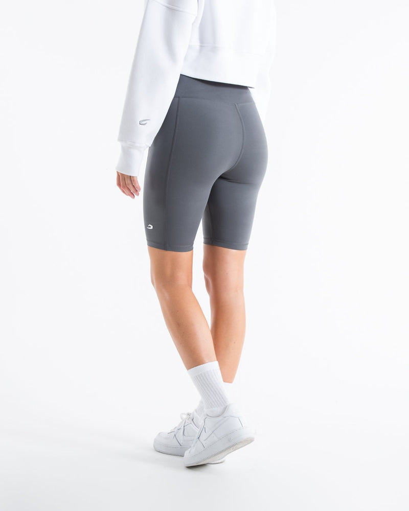 Women's Cycling Shorts With Pockets - Charcoal - BOXRAW