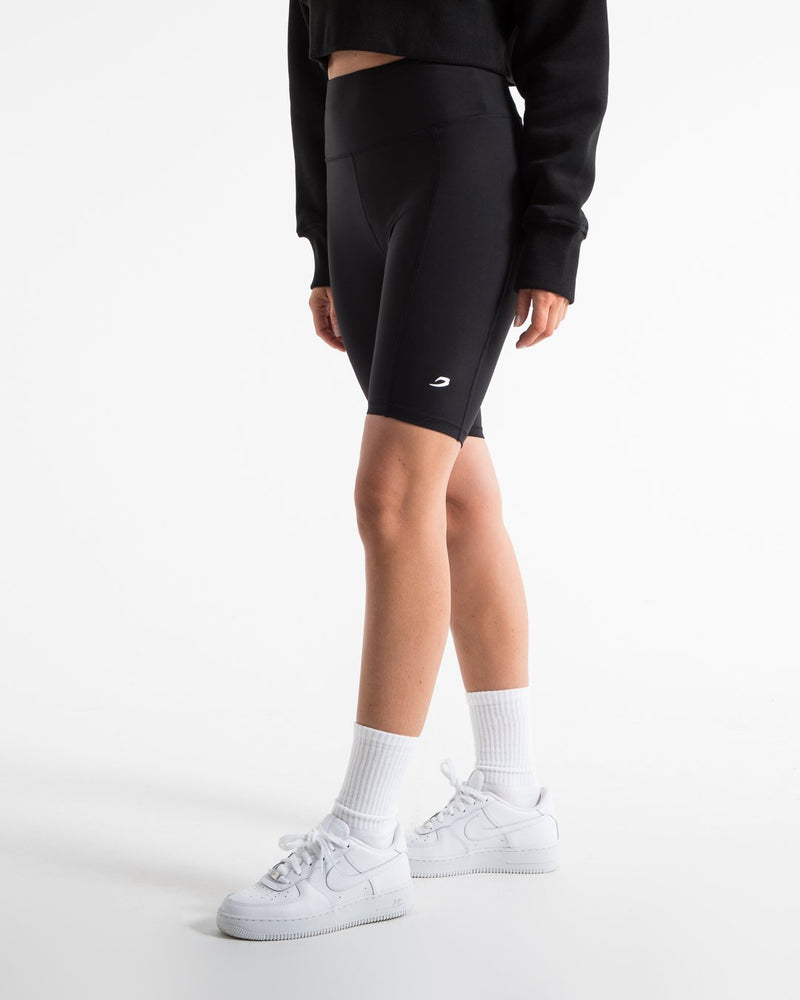 Women's Cycling Shorts With Pockets - Black - BOXRAW