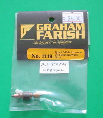 1119 Type 1: 5 pole motor armature for steam locos and Class 08 diesel