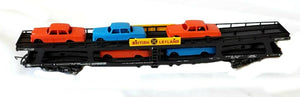 "L309057W Lima Bogie Car Transporter, with cars ""British Leyland"""
