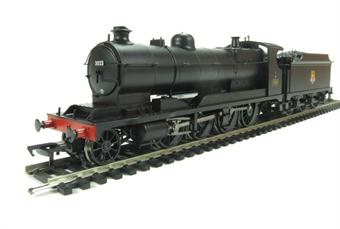 31-127 Bachmann lass 30xx 2-8-0 ROD 3023 in BR black with early emblem DCC Ready. 21-pin socket