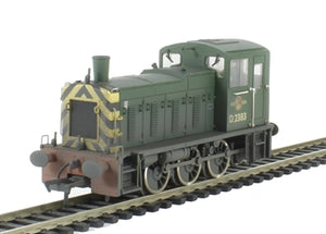31-364 BACHMANN Class 03 Diesel Shunter D2383 BR Green Weathered DCC Fitted