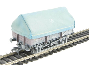 33-080B BACHMANN  5 Plank China Clay wagon with hood in BR bauxite livery (Weathered)