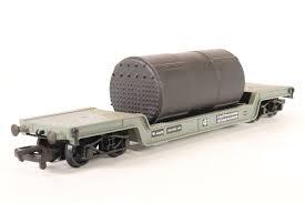 33-876 Branchline 45 Ton Bogie Well Wagon with boiler, BR grey, diamond frame