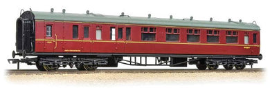 34-176 Collett 60ft BSK 2nd brake corridor in BR maroon (ex GWR) W1656W