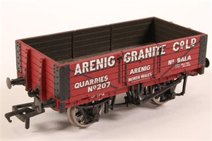 "37-026A BACHMANN 5-plank wagon ""Arenig Granite Co."" Bala - Pre-owned - Like new"
