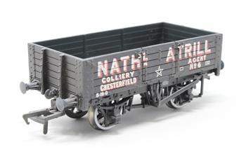 37-059 BACHMANN 5 plank wagon with wood floor in Nathanial Atrill livery