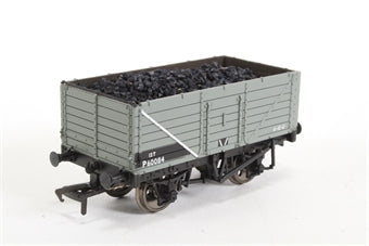 37-061 BACHMANN 5 plank wagon with wood floor in BR grey livery - Pre-owned - Like new